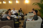 Letzte Blogger-Sitzung in der Business Lounge in Peking
